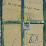 Vorderseite XIX, Acryl-/Mischtechnik auf Leinwand, 100 x 80 cm