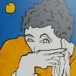 Rückseite V, Acryl-/Mischtechnik auf Leinwand, 100 x 80 cm