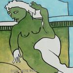 Rückseite XVIII, Acryl-/Mischtechnik auf Leinwand, 100 x 80 cm