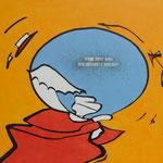 Rückseite XXIII, Acryl-/Mischtechnik auf Leinwand, 80 x 100 cm