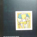 Rückseite XX, Acryl-/Mischtechnik auf Leinwand, 100 x 80 cm