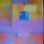 géométrie N°2 huile sur toile  coll. privée