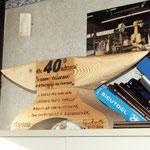 Incudine in legno realizzato per il quarantesimo anniversario della ditta Callegari