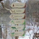 Da geht's zum Nashornhaus ... Lesung im tief verschneiten Erfurter Zoo, 13.3.13