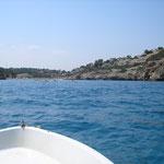 Cala Romantica vom Meer aus