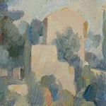 Wilfried Kirschl, Provenzalische Landschaft (La Cabane de Cézanne), Öl auf Leinwand, 1964. (Foto: Johannes Plattner)