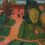Wilfried Kirschl, Bauernhof bei Ravenna, Öl auf Leinwand, 1951. (Foto: Johannes Plattner)