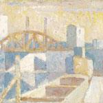 Wilfried Kirschl, Frachthafen Saint Denis, Öl auf Leinwand, 1998. (Foto: Nachlass)