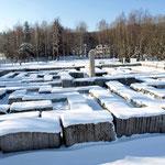 Granitlabyrinth im Winter
