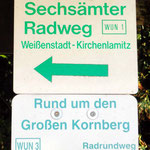 Wegweiser zum Sechsämter-Radweg