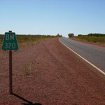 These indicates the distance to the next town or roadhouse (here BM for Broome)