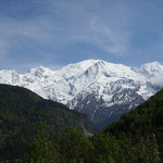 massif du mont blanc vu de sallanches /  mont blanc seen from sallanches