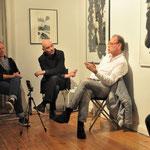 zeitPUNKT-Gespräch mit Thomas Florschuetz (l.) und Alfred Weidinger (r.) in der Galerie Barthel + Tetzner, Foto: Nora Wendenburg