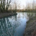 La Marne se déversant dans le canal latéral