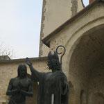 Statue Baptême de Clovis