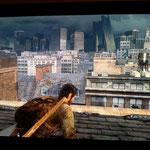 Skyline der zerstörten Stadt