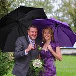 Daniela und Meini im Regen, dafür im Glück