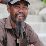 Der älteste Strandverkäufer in Chaweng