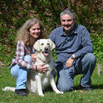 Arlette und Rolf mit Felia of Golden Rascal