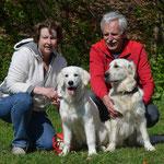 Jacqueline und Daniel mit Hazel und Fay (Luna) of Golden Rascal