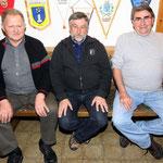 Die Bestplazierten  Alfred Hirt, Alfred Sieger, Wolfgang Quanz