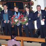 Ehrung und Dankeschön für Petra Bury, Christiane Barthel und Edin Pasalic durch Hubert Stolz