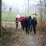 Mit 20 Personen starteten wir die Wanderung entlang der Wutach auf schweizer Seite