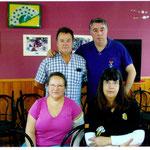 Pepi,Gemma,Domingo y Marin compañero del CD Guardiola