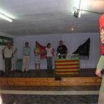 La presentacion de entrega de trofeos