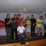 El equipo con la alcaldesa de Esplugues ll Sra Pilar