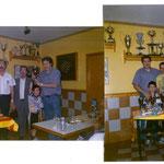 1ª foto Ferran Galindo recogiendo el trofeo 2ªfoto Domingo Lopez, Jonatan Lopez,y Ferran Galindo