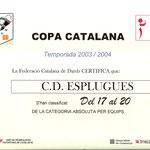 Diploma Cup Catalunya