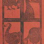 le dodo, linogravure,  tirage 20 expl.