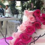 Pastel para Boda en xochitepec morelos con flores naturales
