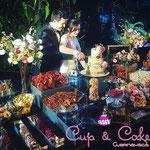 Pastel para Boda en cuernavaca morelos y mesa de postres y dulces
