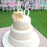Pastel para Boda en cuernavaca morelos color rosita