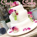 Pastel para Boda en cuernavaca morelos petalos de rosa