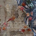 Foto von bewachsener Wand und Satz aus Dornröschen.