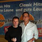 mit Sänger Chris de Burgh