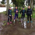 Laufen macht auch bei Regen Spaß :-)
