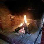 Kaminfeuer im Winter