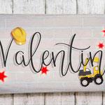 Holzschilder Shabby-Look Vintage Kindergeburtstag Bauarbeiter Junge Mottoparty Türschild Name Kind Namensschild Namenschild Geschenk Überraschung Auto