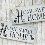 Holzschilder Shabby-Look Home sweet Home Vintage
