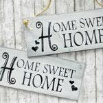 Holzschilder Shabbyh-Look Home sweet Home Vintage