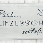 Holzschilder Shabby-Look Baby Prinzesschen Prinzessin schläft Vintage