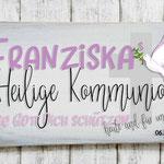 Holzschilder Shabby-Look Vintage 1. heilige Kommunion Kreuz Taube Kirche Mädchen Türschild Name Kind Namensschild pink  rosa Namenschild Geschenk