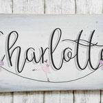 Holzschilder Shabby-Look Vintage Kindergeburtstag Ballerina Mottoparty Türschild Name Kind Namensschild Namenschild Geschenk Überraschung