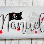 Holzschilder Shabby-Look Vintage Kindergeburtstag Piraten Junge Mottoparty Türschild Name Kind Namensschild Namenschild Geschenk Überraschung