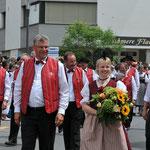 OK March und Vorstand ZSJV mit Verbandsfahnen