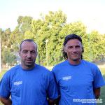 Les deux coachs, Didier Santini (à droite) et Christian Vanucci